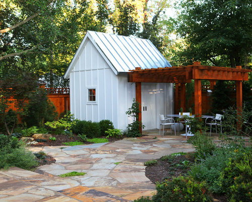 Pergola off shed home design ideas pictures remodel and decor