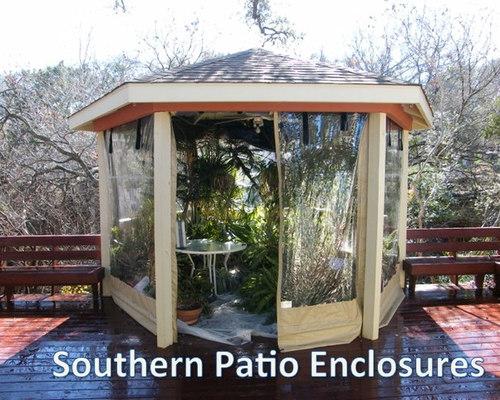 Clear Vinyl Patio Enclosure weather curtains Carpenter Austin