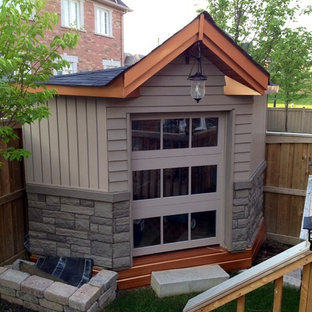 Inspiration for a small contemporary detached garden shed in Toronto.