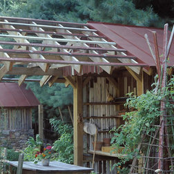 Garden Shed with Pergola