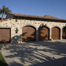 Mediterranean Garage And Shed by James Glover Residential & Interior Design