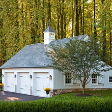 Traditional Garage And Shed by Worthington Custom Builder Inc.