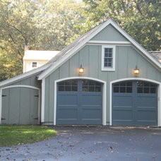 Traditional Garage And Shed by Mahoney Architects