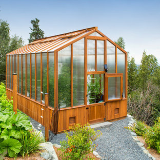 Example of a trendy detached greenhouse design in Other