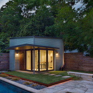 Small contemporary detached office/studio/workshop in Austin.