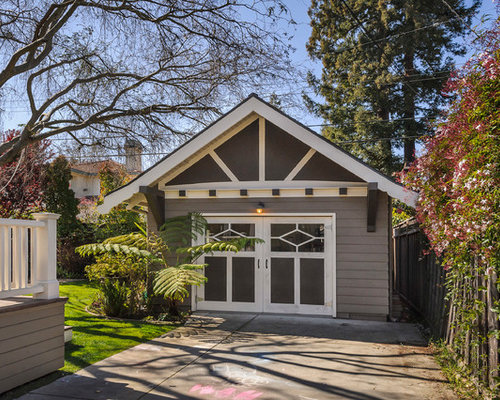 Arts and crafts garage and shed home design ideas photos for Arts and crafts garage plans