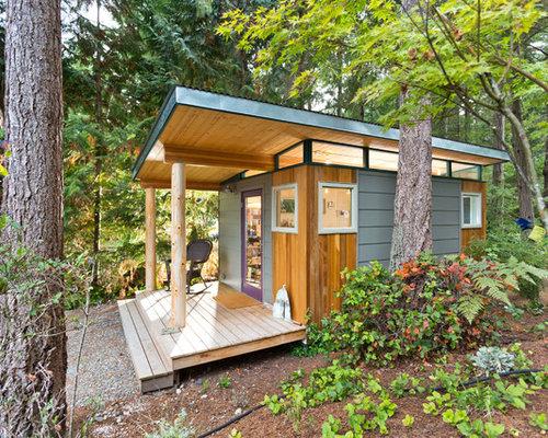 moderne garagen und ger teschuppen als arbeitsplatz studio oder werkraum bilder ideen. Black Bedroom Furniture Sets. Home Design Ideas
