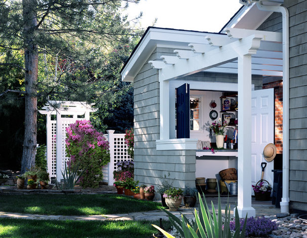 Traditional Garage And Shed by Parrish Construction