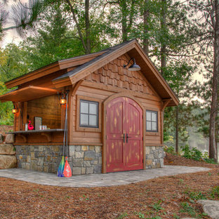 Shed - rustic detached shed idea in Minneapolis