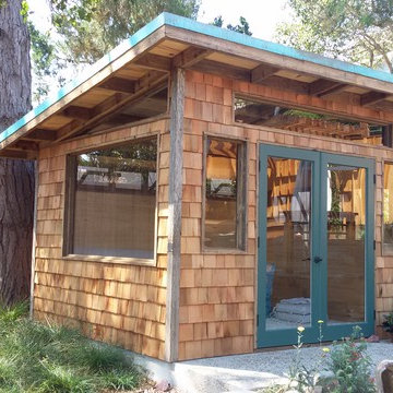 Custom Cambria Shed with Shingles