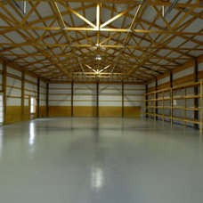 Farmhouse Garage And Shed by Lankford Decorating & Construction, Inc.