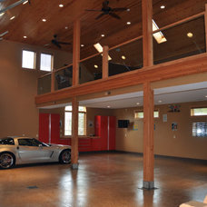 Contemporary Garage And Shed by Hoying and Hoying Builders, Inc.
