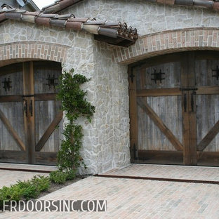 Example of a mountain style shed design in Orange County