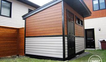 Custom modern shed and Fence