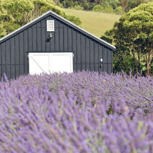 Inspiration for an industrial garden shed and building in Auckland.