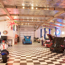 Eclectic Garage And Shed by David Lewis Builder