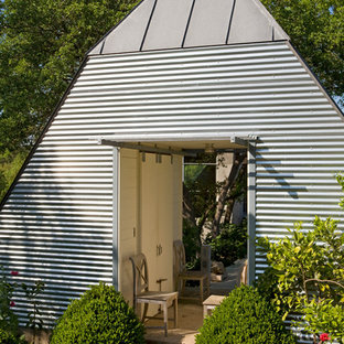 This is an example of an urban detached garden shed and building in Austin.