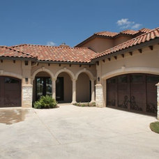 Mediterranean Garage And Shed by Echelon Homes