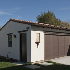 Mediterranean Garage And Shed by Neal A. Pann, Architect