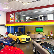 Modern Garage And Shed by Erotas Building Corporation