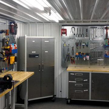 DIY Dream Bunker with Wall Control Metal Pegboard Organization