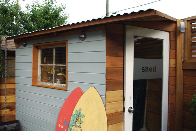 Contemporary Garage And Shed by Aloe Designs