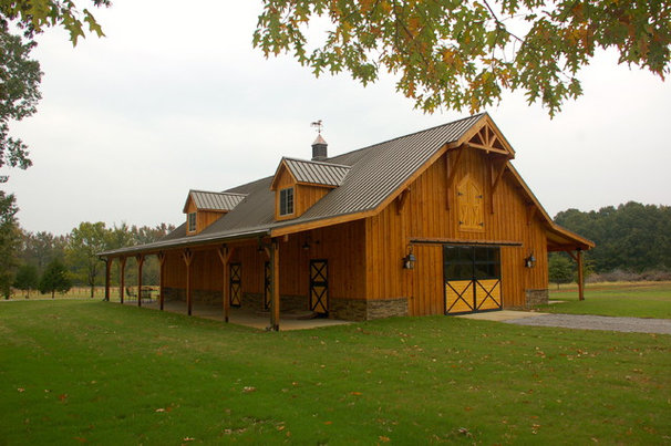 Traditional Garage And Shed by David Clark Construction, LLC