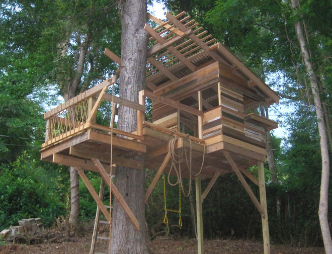 Eclectic garage and shed eclectic garage and shed for Kids outdoor fort plans