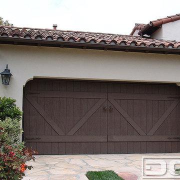 ECO-Alternative Garage Doors 12 | Composite Wood Garage Door in a Spanish Style!