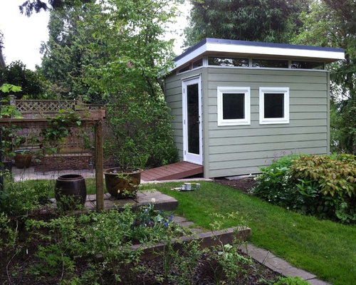 Contemporary Weatherboard Garden Shed and Building Design Ideas