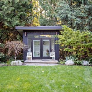 Idée de décoration pour une petit maison d'amis séparée vintage.