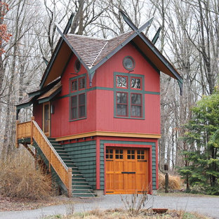 Eclectic shed and granny flat in New York.