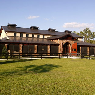 Photo of an expansive mediterranean detached barn in Minneapolis.
