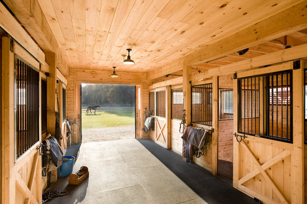 Farmhouse Garage And Shed by Windover Construction