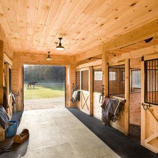 Inspiration for a farmhouse barn remodel in Boston
