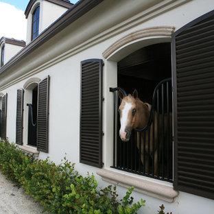 Photo of a large contemporary detached barn in Miami.