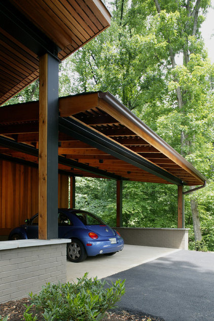 Modern Garage And Shed by Brennan + Company Architects