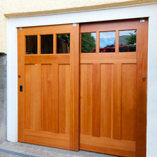 Traditional Garage And Shed by Real Carriage Door Company