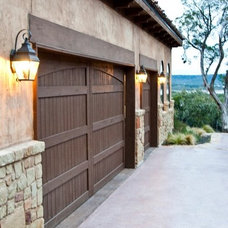 Mediterranean Garage And Shed by Collinas Design & Construction