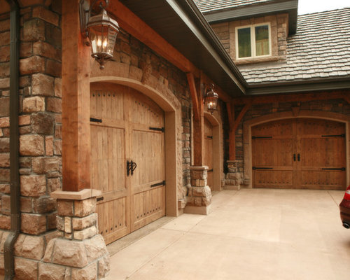 L shaped garage ideas pictures remodel and decor for 3 car garage door