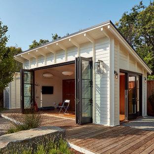Foto de caseta independiente de estilo de casa de campo
