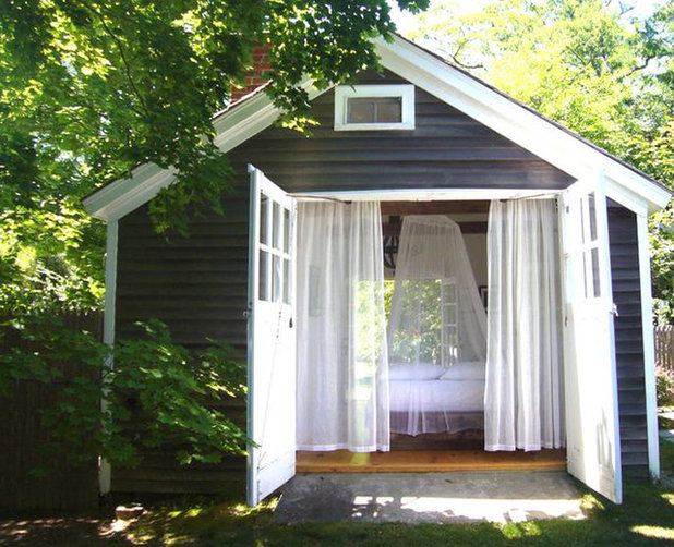 Shabby-chic Style Shed by SchappacherWhite Architecture D.P.C.