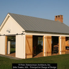 Traditional Garage And Shed by John Toates Architecture and Design