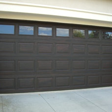 Traditional Garage And Shed by Faux My Garage Door