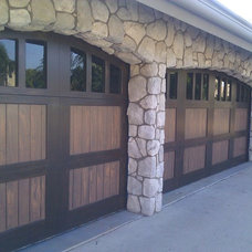Contemporary Garage And Shed by Faux My Garage Door