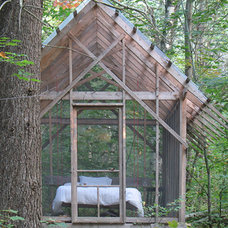 rustic garage and shed by Bluetime Collaborative