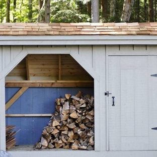 Firewood & Equipment Storage Shed Kits - 4' x 10'