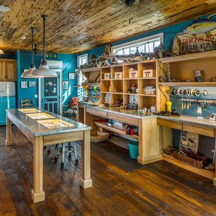 Großes Eklektisches Gartenhaus als Arbeitsplatz, Studio oder Werkraum in Tampa
