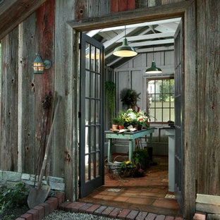 Inspiration for a rural detached garden shed in Grand Rapids.