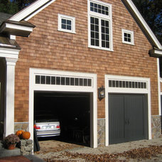 Traditional Garage And Shed by Donelan Contracting